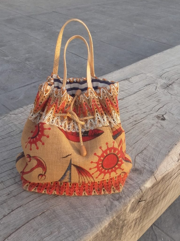 cabas sac vintage sac de plage marin