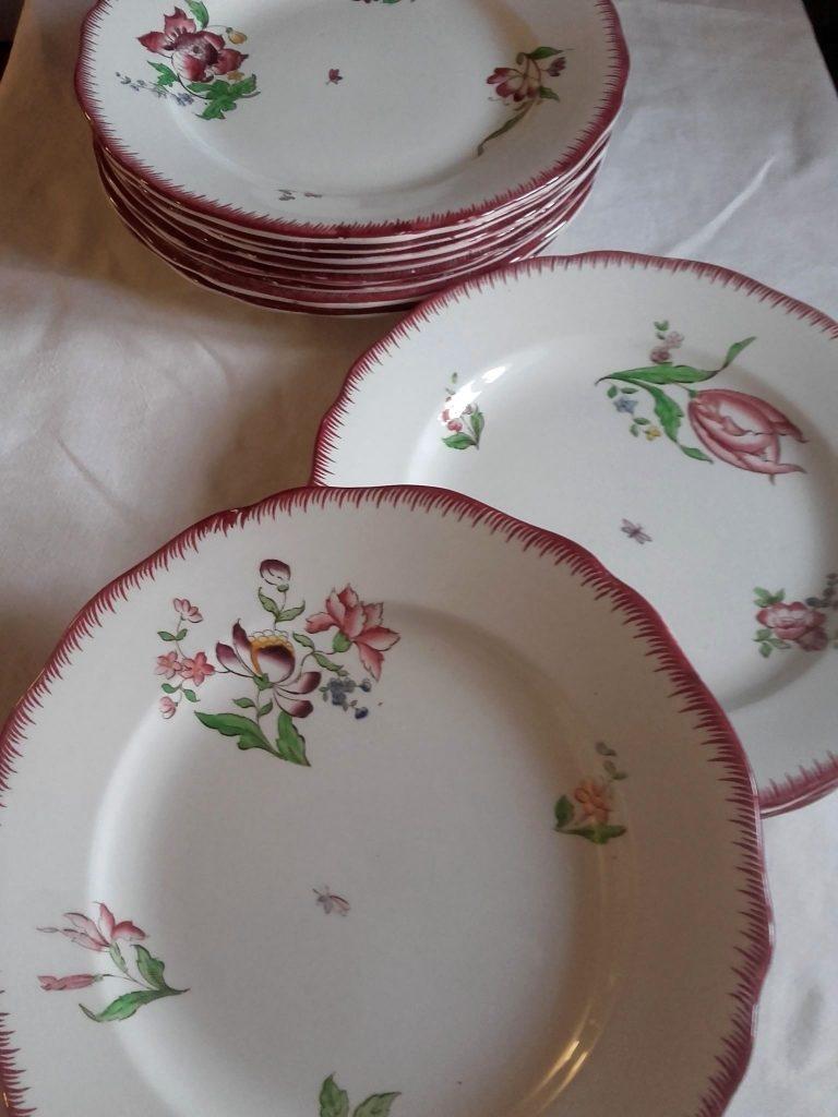 assiettes vintage sarreguemines strasbourg